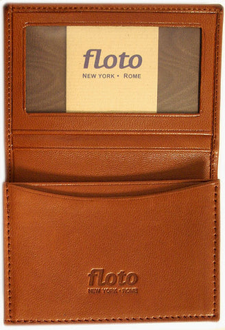 FLOTO Firenze Leather Business Card Case Tan