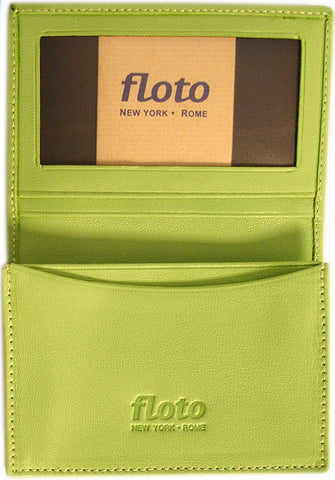 FLOTO Firenze Leather Business Card Case Green