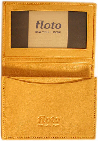 FLOTO Firenze Leather Business Card Case Yellow