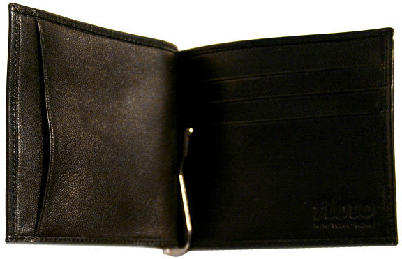 FLOTO Firenze Leather Bill Clip Wallet Black