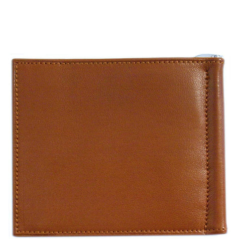Floto Italian Leather Firenze Bill Money Fold Clip Wallet men's brown