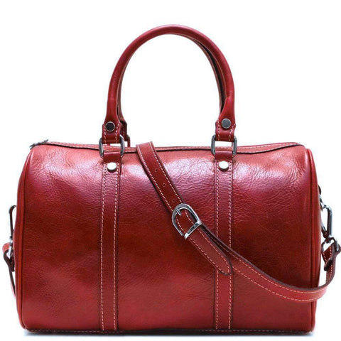 Floto Leather Boston Satchel Bag