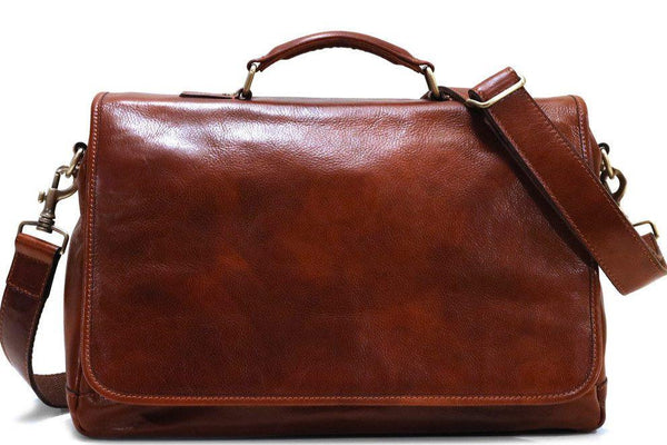 FLOTO CENTRO LEATHER MESSENGER VECCHIO BROWN
