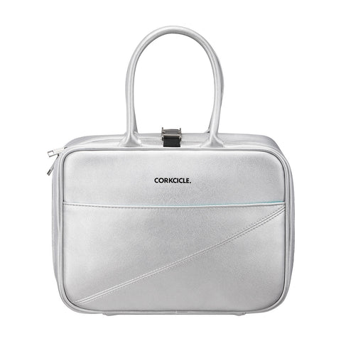 Corkcicle Baldwin Boxer Cooler Lunch Box Bag Silver