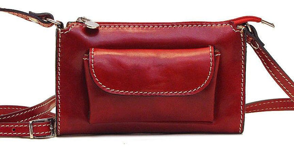FLOTO CALABRIA SATCHEL SHOULDER BAG TUSCAN RED