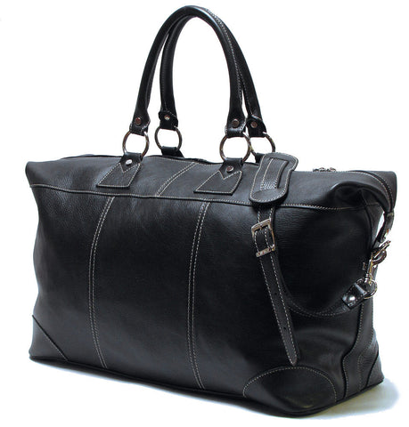FLOTO Capri Leather Duffle Black