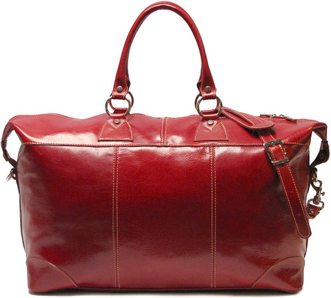 FLOTO Capri Leather Duffle Tuscan Red