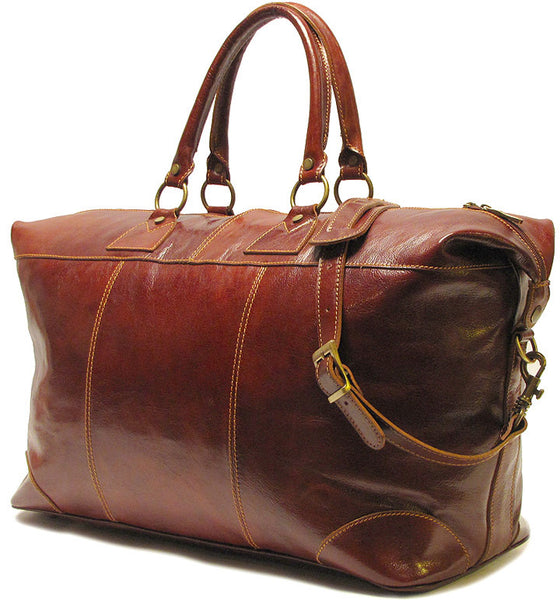 FLOTO Capri Leather Duffle Vecchio Brown