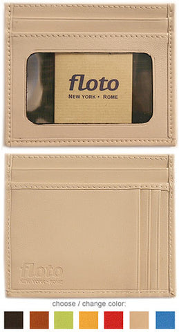 FLOTO Firenze Leather Card Case Cream