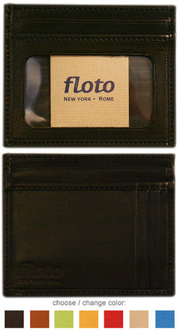 FLOTO Firenze Leather Card Case Black