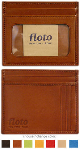 FLOTO Firenze Leather Card Case Tan