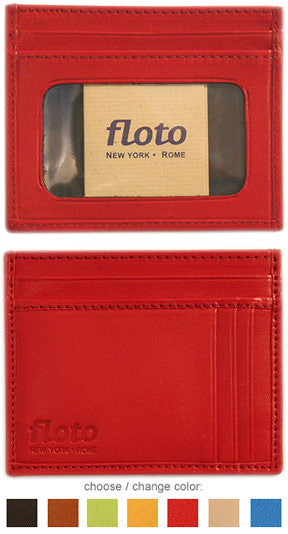 FLOTO Firenze Leather Card Case Red