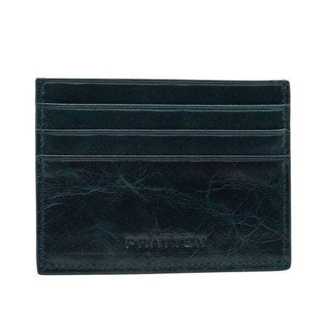 PRATTEN Leather Cardholder Midnight Blue