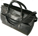 FLOTO Casiana Leather Travel Tote Black