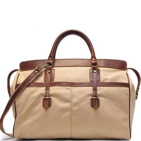 Floto Italian Canvas and Leather Casiana Travel Tote Bag Weekender