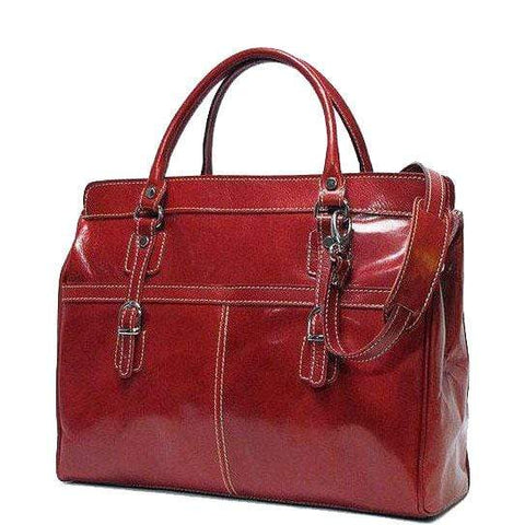 Floto Italian Leather Shoulder Bag Casiana Mini Women's Handbag red