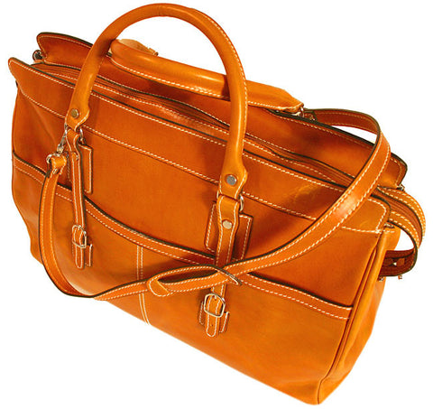 FLOTO Casiana Leather Travel Tote Orange