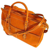 Floto Casiana Italian Leather Duffle Travel Bag Suitcase orange