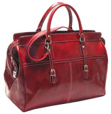 FLOTO Casiana Leather Travel Tote Tuscan Red