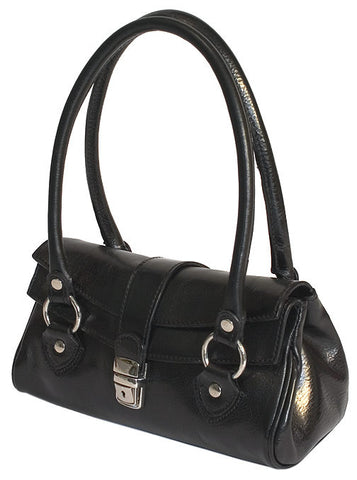 FLOTO Corsica Leather Handbag Black