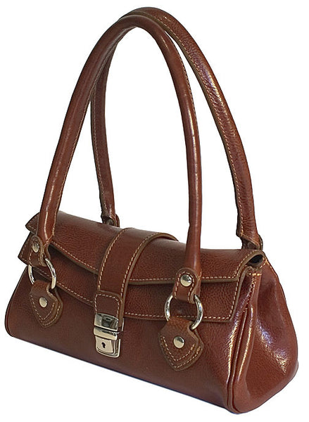 FLOTO Corsica Leather Handbag Brown