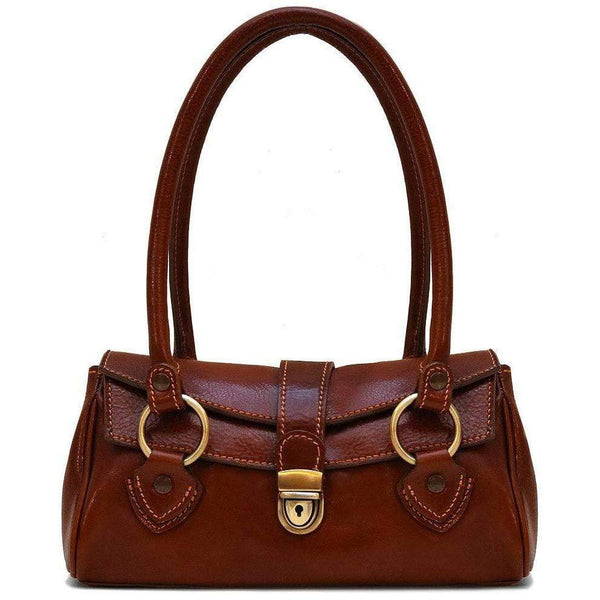 Leather Handbag Floto Corsica vintage classic brown