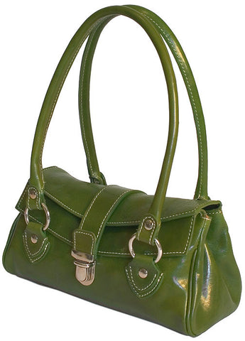 FLOTO Corsica Leather Handbag Apple Green