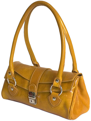 FLOTO Corsica Leather Handbag Olive Brown
