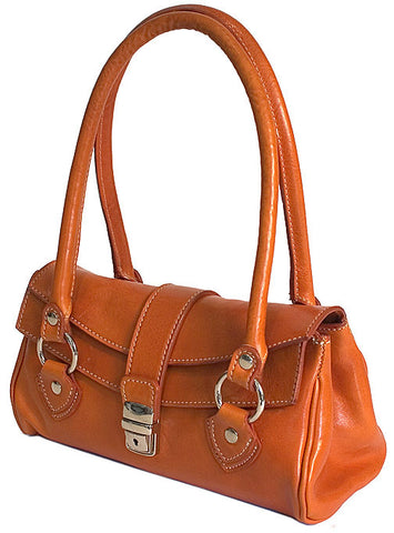 FLOTO Corsica Leather Handbag Orange