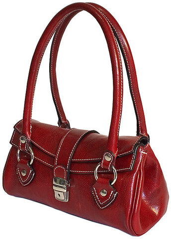 FLOTO Corsica Leather Handbag Tuscan Red