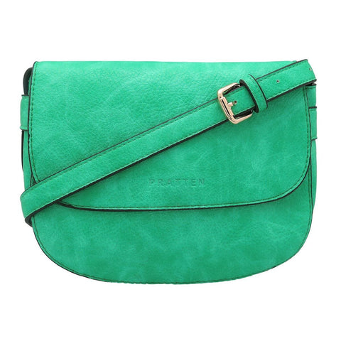 PRATTEN DALLAS CROSSBODY/SHOULDER BAG GREEN