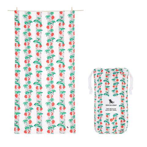 DOCK & BAY Beach Towel Jungle Collection Xl 100% Recycled Trunk in Love