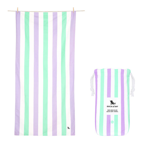 DOCK & BAY Beach Towel Summer Collection Xl 100% Recycled Lavender Bay
