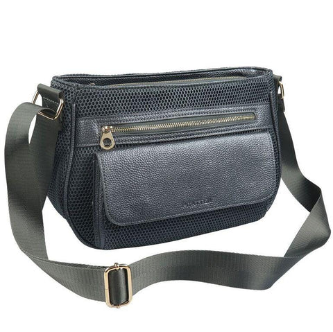 PRATTEN DAY TRIPPER SHOULDER BAG CHARCOAL GREY