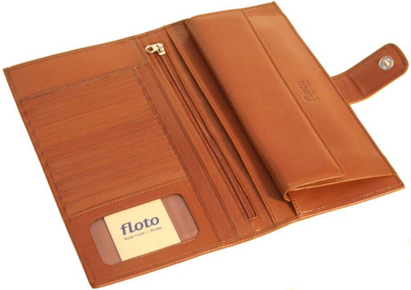 FLOTO Firenze Leather Document Folder Tan