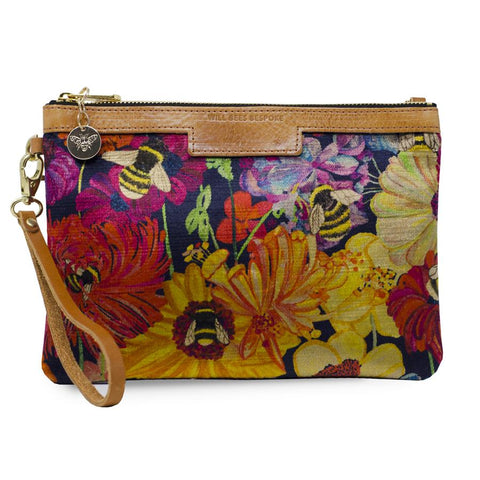 Will Bees Personalised Premium Diana Clutch Bumblebee Garden Midday Sun