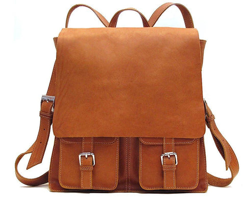 FLOTO FORUM LEATHER BACKPACK TAN