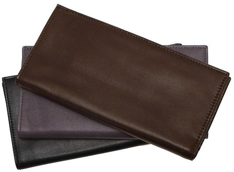 FLOTO FIRENZE NAPPA LEATHER BREAST POCKET WALLET BROWN