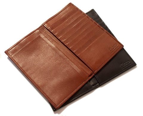 FLOTO Firenze Leather Cheque Book Wallet Tan
