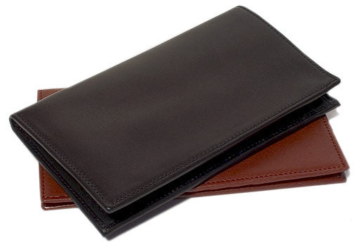 FLOTO Firenze Leather Cheque Book Wallet Black