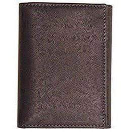 leather tri-fold id wallet floto grey