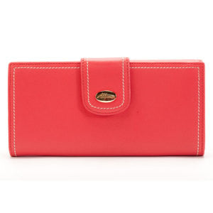 ALLORA Harley Slim Leather Wallet Coral Pink