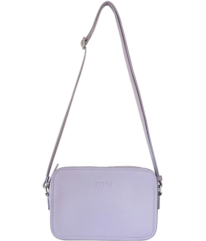 Hoopla Leather Cross Body Box Bag LAVENDER PURPLE
