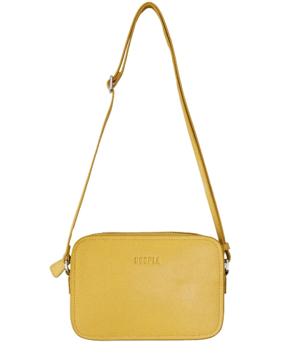 Hoopla Leather Cross Body Box Bag MUSTARD YELLOW