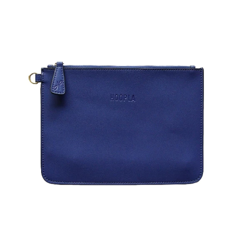 HOOPLA LEATHER CLUTCH BLUE