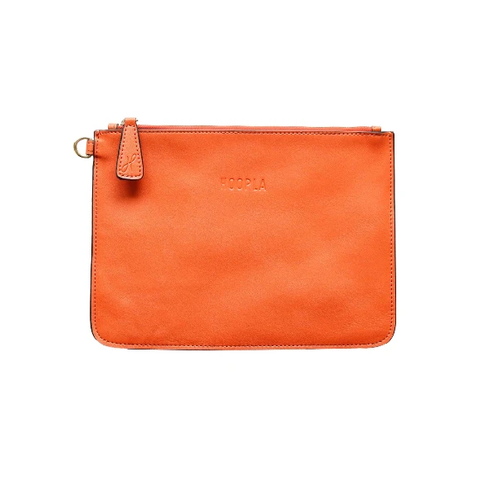 HOOPLA LEATHER CLUTCH ORANGE
