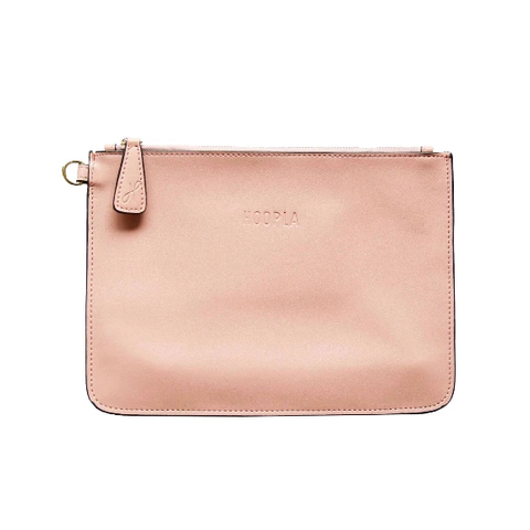 HOOPLA LEATHER CLUTCH DUSTY PINK