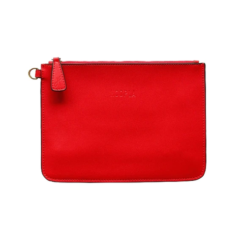 HOOPLA LEATHER CLUTCH RED