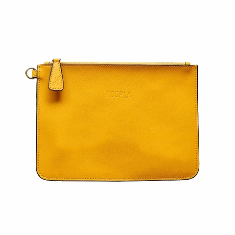 HOOPLA LEATHER CLUTCH MUSTARD YELLOW