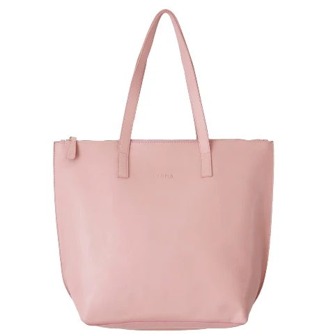 HOOPLA LEATHER LARGE ZIP TOTE DUSTY PINK